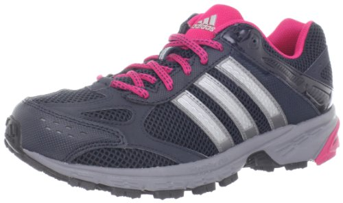 adidas Women's Duramo 4 TR Running Shoe,Tech Onix/Bright Pink/Metallic Silver,9.5 M US