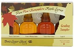 Ben\'s Sugar Shack, Sampler Set of Pure Maple Syrup, Four 1.7 oz. bottles