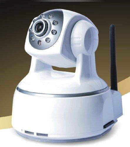 Wifi H264 IP Camera with Pan & Tilt, Night Vision, 2 Way Audio on Apple Mac, Windows, @gmail compatible. SD Flash