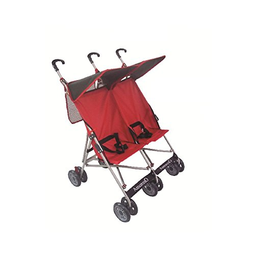AmorosO-Twin-Baby-Stroller-BlackRed