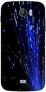 Snoogg Fiber Optics Designer Protective Back Case Cover For Micromax A110