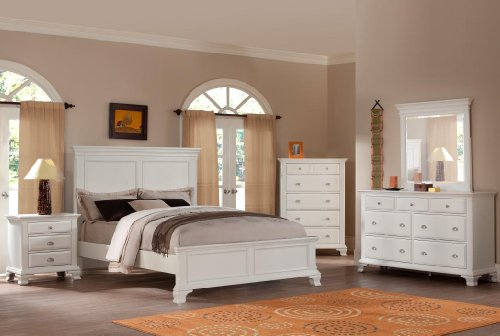 White Bedroom Furniture Set 6845 front