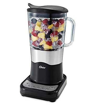 Oster BLSTDG-B Designer Series 7-Cup Glass Jar 6-Speed Blender, Black with Stainless Steel Accents