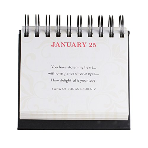 DaySpring Two Hearts, DayBrightener Perpetual Flip Calendar, 366 Days of Inspiration (77911)