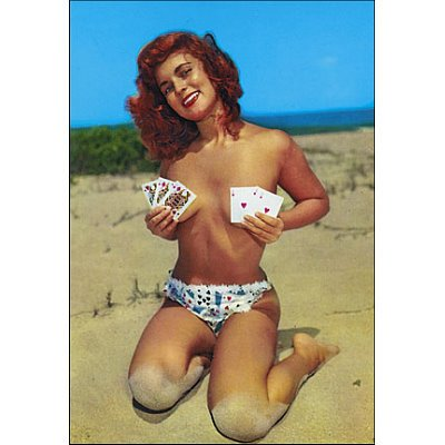 (4x6) Vintage Pin Up Girl, Full House, Topless,