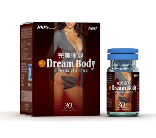 Dream Body Herbal Slimming Capsule * Weight Loss Fat Burner Pills * 100% Authentic * One Month Supply (1 box) GMP Certified Genuine blue Sticker