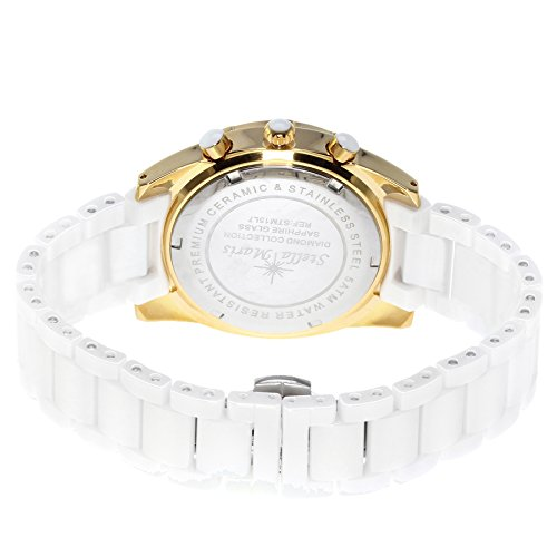 stella maris damen armbanduhr analog quarz premium keramik diamanten stm15l7 uhren. Black Bedroom Furniture Sets. Home Design Ideas