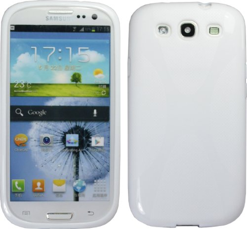 White X-Line Tpu Case For Samsung Galaxy S Iii S3 I9300 I535 L710 T999 Cover