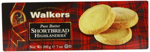 Walkers Shortbread Highlanders, 7-Ounce Boxes (Pack of 4)