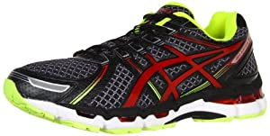 ASICS Men's GEL-Kayano 19 Running Shoe,Black/Red/Lime,10.5 M US