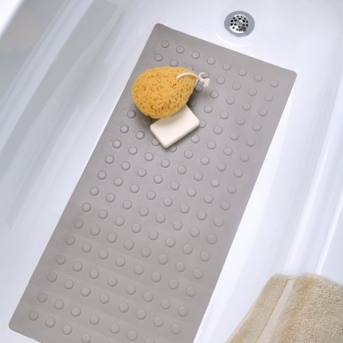 Large Rubber Safety Bath Mat in Tan