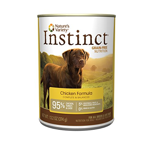 Nature's Variety Instinct Grain Free Chicken Formula Canned Dog Food, 13.2 oz. Cans (Case of 12) (Dog Canned Food compare prices)