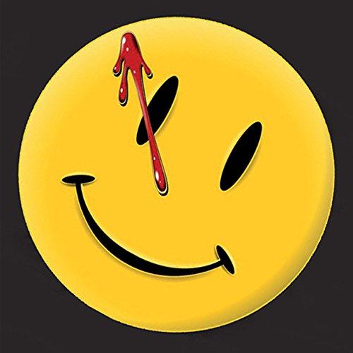 Watchmen-Camiseta-con-logo-Smiley-Licencia-oficial-DC-Comics-Negro