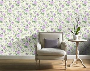 Gran Deco Bouquet Wallpaper - Lilac by New A-Brend