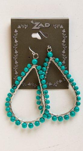 Zad Jewelry Faux Turquoise Bead Teardrop Earring (E2007) - Turquoise