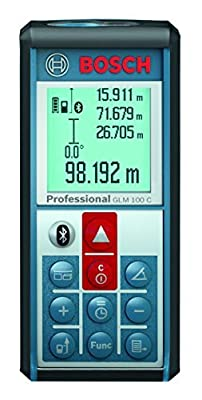 Bosch GLM 100 C Bluetooth Enabled 330-Foot Lithium-Ion Laser Distance and Angle Measurer by Bosch