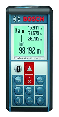 Bosch GLM 100 C Bluetooth Enabled 330-Foot Lithium-Ion Laser Distance and Angle Measurer by Bosch (Glm 100 Bosch compare prices)