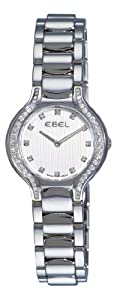 Ebel Women's 9003N18/691050 Beluga Silver Diamond Dial Watch from Ebedee