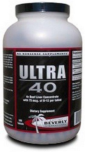 Beverly International Ultra 40, 100% Beef Liver, 500 Tablets