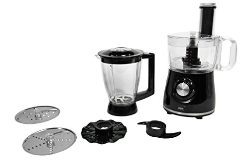 Mia MC 1191 Universal-Küchenmaschine, 400 W, 4 Stufen Schalter, Multi-Zerkleinerer, Jumbo-Mixeraufsatz, separate Puls-Funktion für Crush-Eis