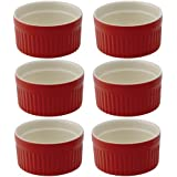 HIC Ceramic Ramekin, Set of 6, Rose