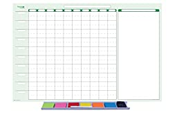 10-Column Personal Time Manager Sticky-Note Dry/Wet Erasable Wall Planner Kit 24\