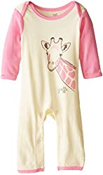 Touched by Nature Baby-Girls Organic Giraffe Romper