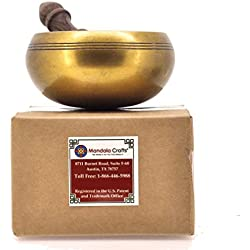 Mandala Crafts® Plain Tibetan Singing Bowl Rin Gong, 4 Inches