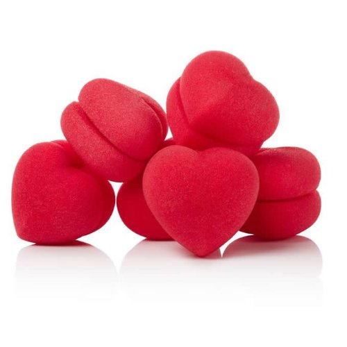Soft & Comfortable Sponge Hair Curlers - Hearts