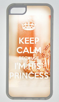 Keep Calm Because I'M His Princess Diy Rubber Transparent Iphone 5C Case Perfect By Custom Service
