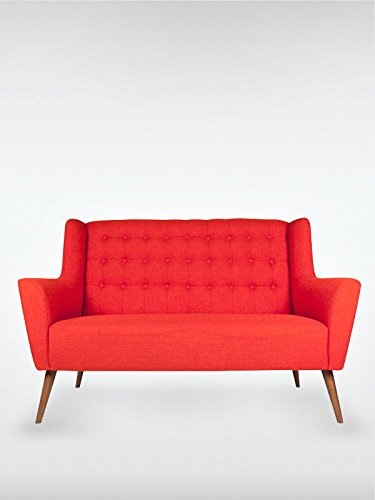 2-Sitzer Vintage Sofa Couch-Garnitur Westhampton rot 150 x 73 x 95