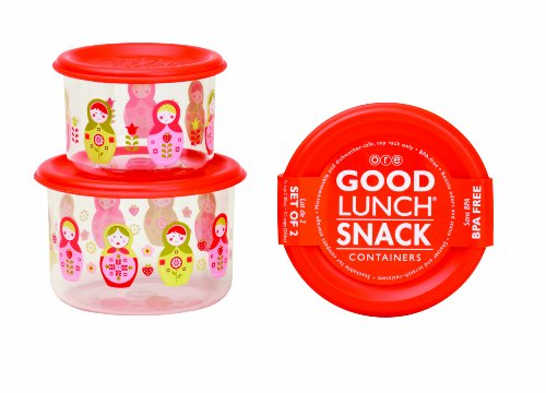 Sugarbooger Good Lunch Snack Container, Matryoshka Doll, 2-Count