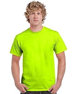 Gildan Men's Heavy Cotton T-Shirt (Safety Green) (2X-Large)