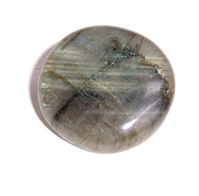 Labradorite Pin 01 Crystal Circle Sheen Spectrolite Brooch Stone 1.4