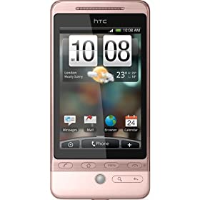 Htc Hero G3 A6262 Google Unlocked GSM Smartphone International Version Android Touchscreen Pink Color