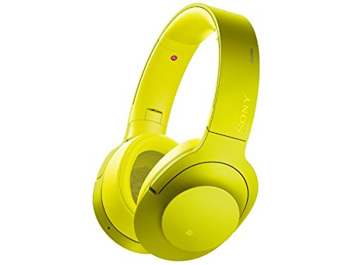 Sony H.ear on Wireless NC Headphone, Lime Yellow (MDR100ABN/Y)