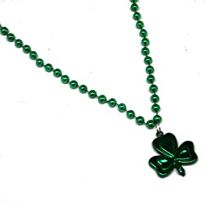 Shamrock Pendant Beads : package of 12