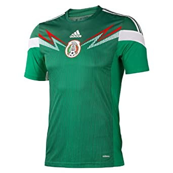 Buy adidas Mexico Youth Home Replica Soccer Jersey 2014 by adidas