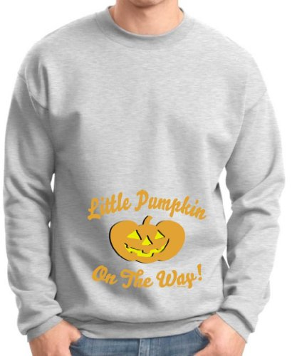Little Pumpkin On The Way Maternity Themed Premium Crewneck Sweatshirt Medium Ash front-819091