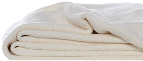 Eddie Bauer 200607 Herringbone Cotton Blanket, Full/Queen, Bone front-683647