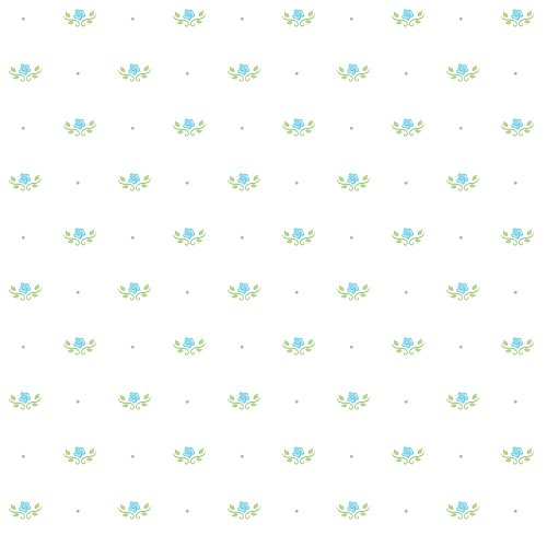 Imperial Disney Home DF059681 Princess Floral Toss Wallpaper, Pastel Blue, 20.5-Inch Wide
