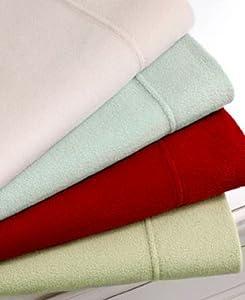Martha Stewart Collection Bedding, Microfleece King Sheet Set, Crimson