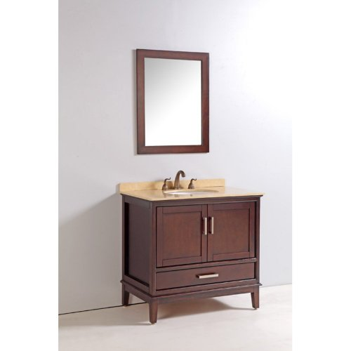 Legion Furniture 36-in. Single Bathroom Vanity Set with Faucet - Cherry Brown