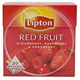 Lipton Red Fruit (Strawberry, Raspberry & Cranberry)20 Pyramid Tea Bags