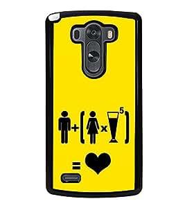 Love Graffiti 2D Hard Polycarbonate Designer Back Case Cover for LG G3 :: LG G3 Dual LTE :: LG G3 D855 D850 D851 D852