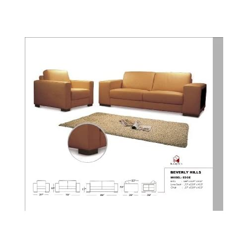 Edge full leather Sofa, Loveseat & Chair Edge Leather Sofa Collection