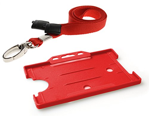 customcard-ltdr-id-card-holder-and-lanyard-neck-strap-with-lobster-metal-clip-red