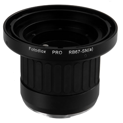 Fotodiox Pro Lens Mount Adapter with Focusing Barrel, for Mamiya RB67 lens to Sony Alpha DSLR Cameras