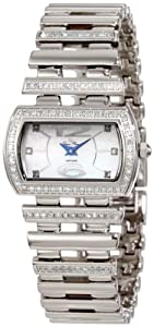 Lucien Piccard Women's 26913SS Pinterry Diamond Accented Stainless Steel Watch