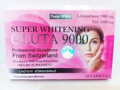 Super Whitening - Gluta 9000 Professions Glutathione+Vit C Dietary Supplement - Pretty White
